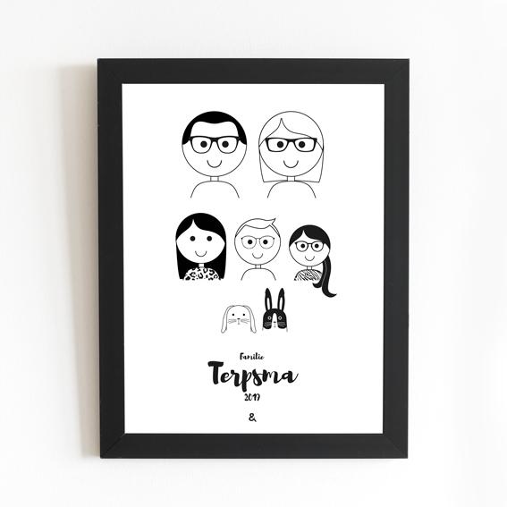 Portret papier zwart-wit