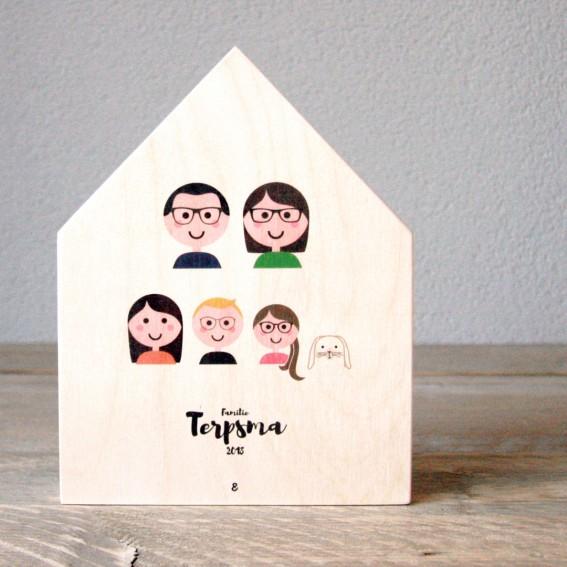 Familieportret – Houten Huisje