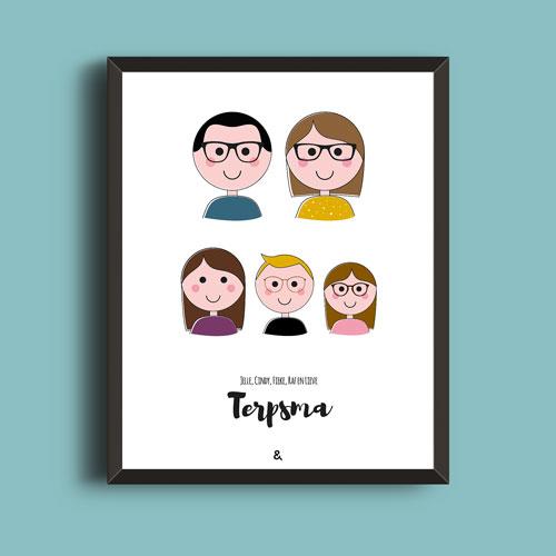 Familieportret – Op Een Rijtje | Kleur/lijn