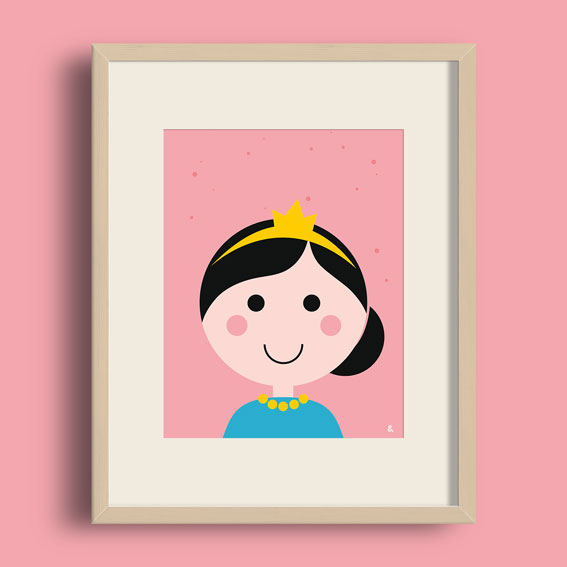 A4 Poster – Prinses