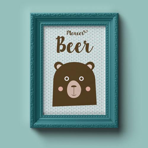 A4 Poster – Meneer Beer