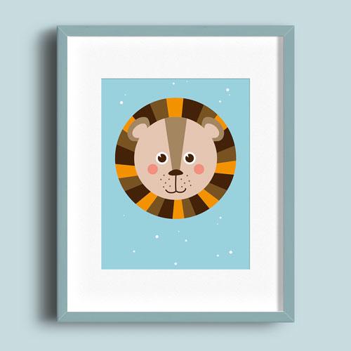 A5 Poster – Leeuw Kleur