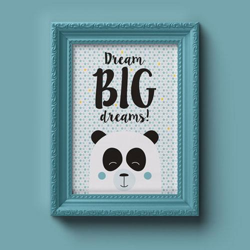 A4 Poster – Panda Jongen