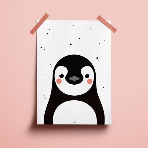 A4 Poster – Pinguin