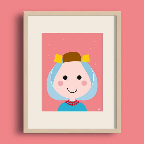 A4 Poster – Zeeuws Meisje