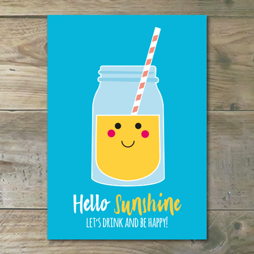 Ansichtkaart €� Hello Sunshine