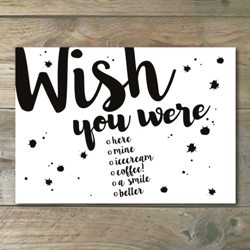Ansichtkaart €� Wish You Were….