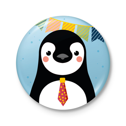 Button €� Feest! Pinguin