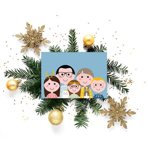 Familieportret – Kerstkaart!