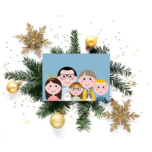 Familieportret - Kerst