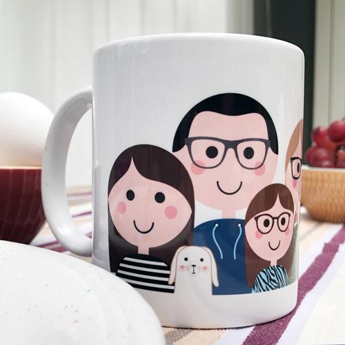 Familieportret – Mok Kleur
