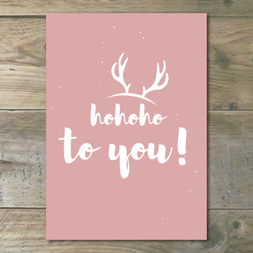 Kerstkaart – Hohoho To You!