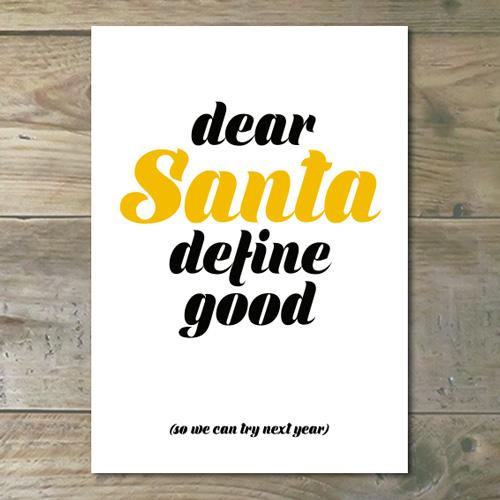 Kerstkaart – Dear Santa